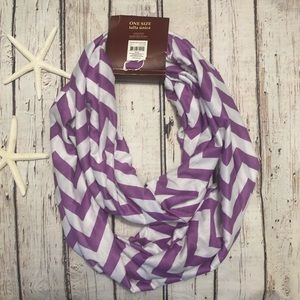 Purple and white Infinity Scarf Faded Glory